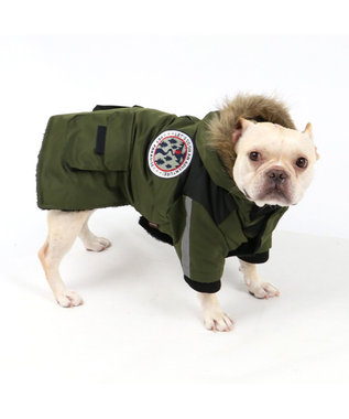 PET PARADISE ペットパラダイス フードジャケット カーキ 〔中型犬〕 カーキ