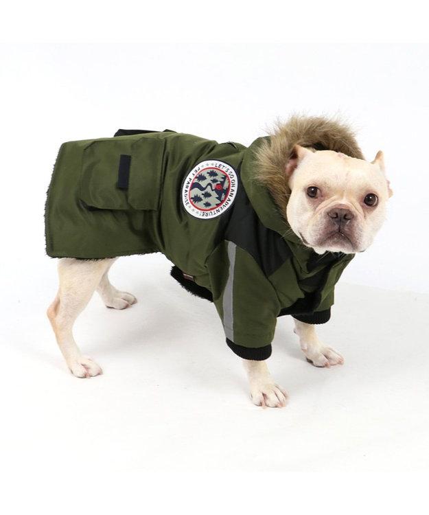 PET PARADISE ペットパラダイス フードジャケット カーキ 〔中型犬〕