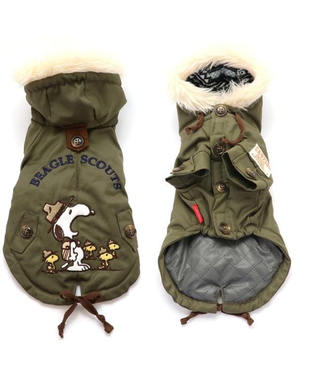 PET PARADISE スヌーピー ビーグル スカウト コート 緑 〔超小型・小型犬〕