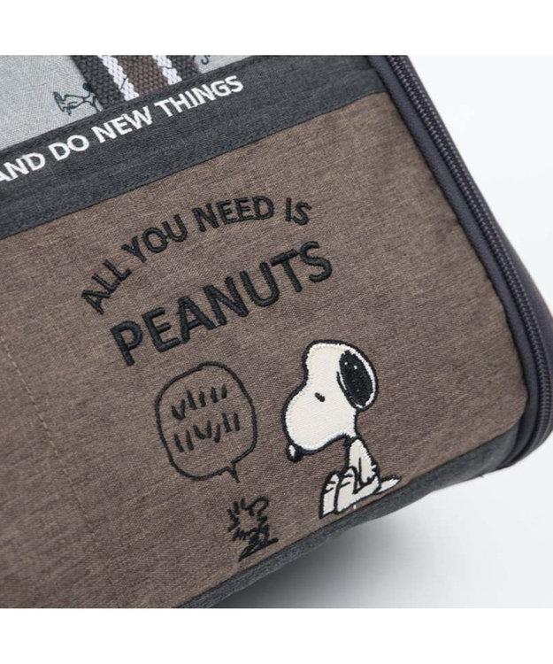 PET PARADISE スヌーピー ブラウン 折り畳み キャリーバッグ M 〔小型犬〕