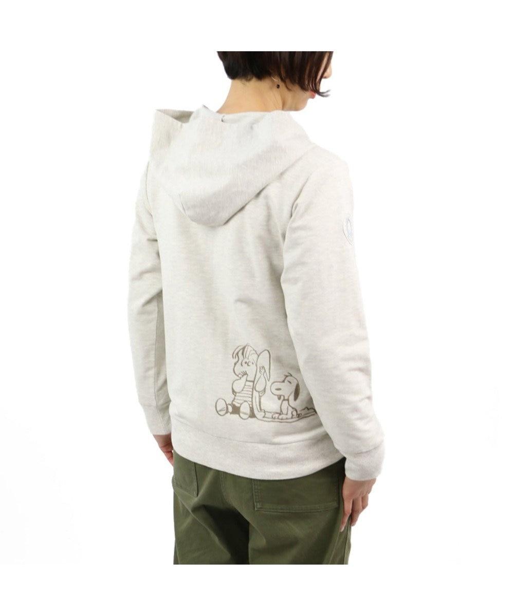 PET PARADISE スヌーピー ライナス お揃い パーカー オーナー用 ユニセックス 白~オフホワイト