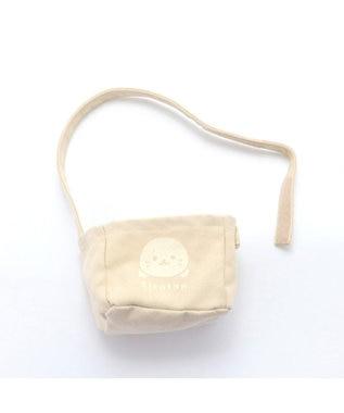Mother garden しろたん ミニトートバッグ ぬいぐるみ用バッグ 帆布 ミニトート ベージュ