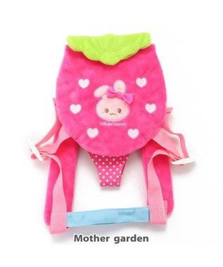 Mother garden うさもも おんぶキャリー 苺 きせかえマスコットS/M共通 ピンク(濃)