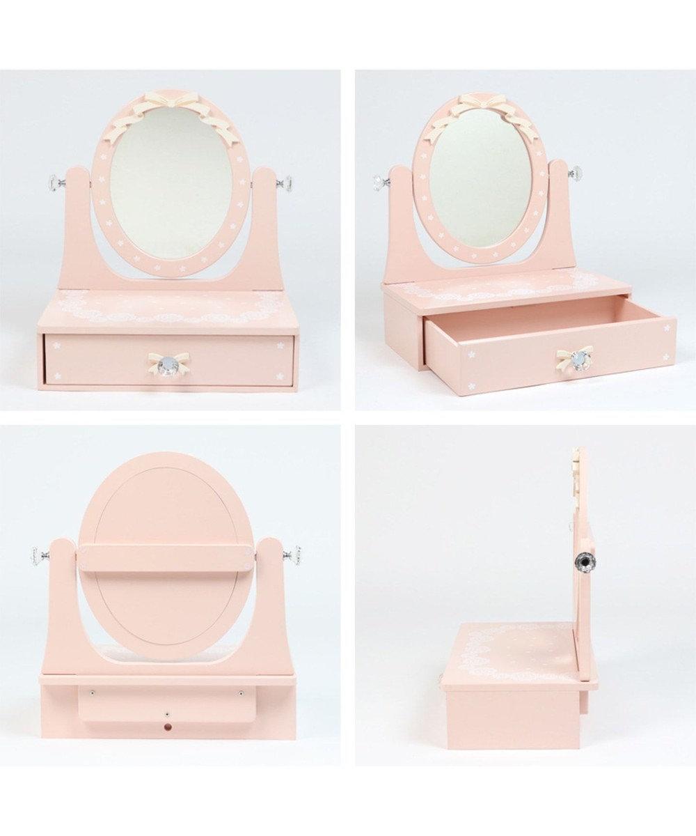Mother garden [ネット限定]マザーガーデン 木製ドレッサー《メロウドレッサー》 ピンク(淡)