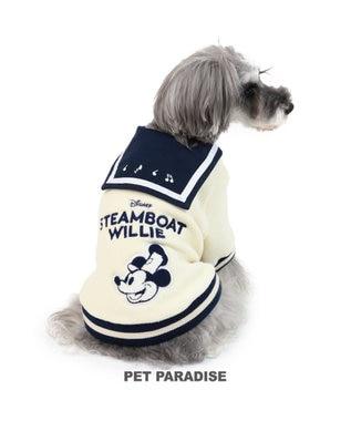 PET PARADISE ディズニー ミッキー 蒸気船ウィリー トレーナー〔超・小型犬〕 紺(ネイビー・インディゴ)