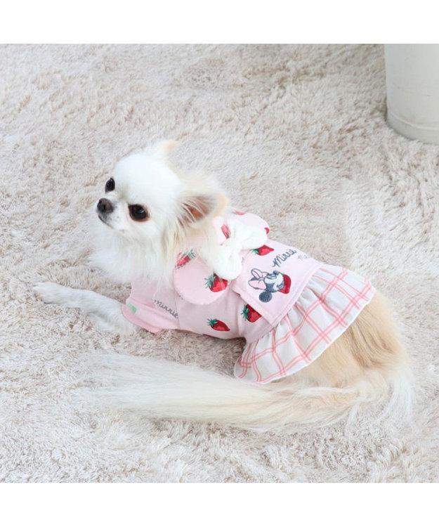 PET PARADISE ディズニー ミニーマウス 苺総柄 パーカー 〔超小型・小型犬〕