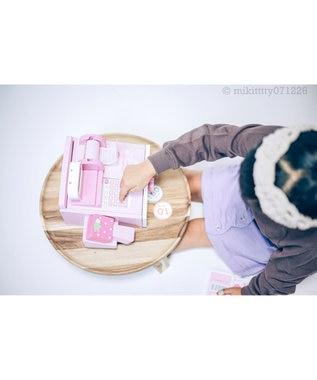 Mother garden マザーガーデン 木のおままごと いちごレジスター ストロベリーレジ レジ お買い物ごっこ お店屋さんごっこ キャッシュレジスター 木のおもちゃ インテリア ごっこ遊び 知育玩具 3才 誕生日 女の子 ピンク(淡)