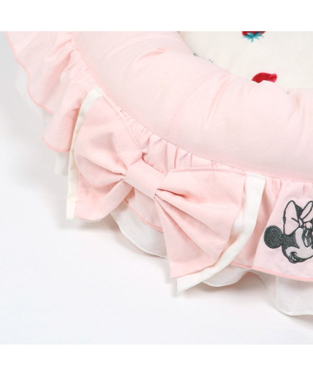 PET PARADISE ディズニー ミニーマウス 苺フリル カドラー ベッド(55cm)