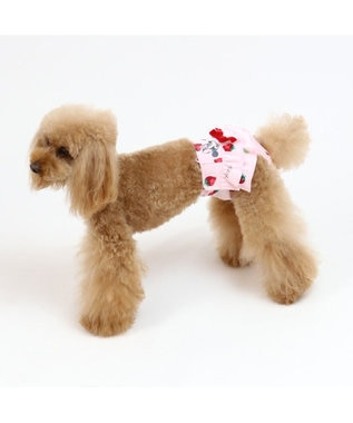 PET PARADISE ディズニー ミニーマウス 苺総柄 サニタリーパンツ〔超・小型犬〕 ピンク(淡)