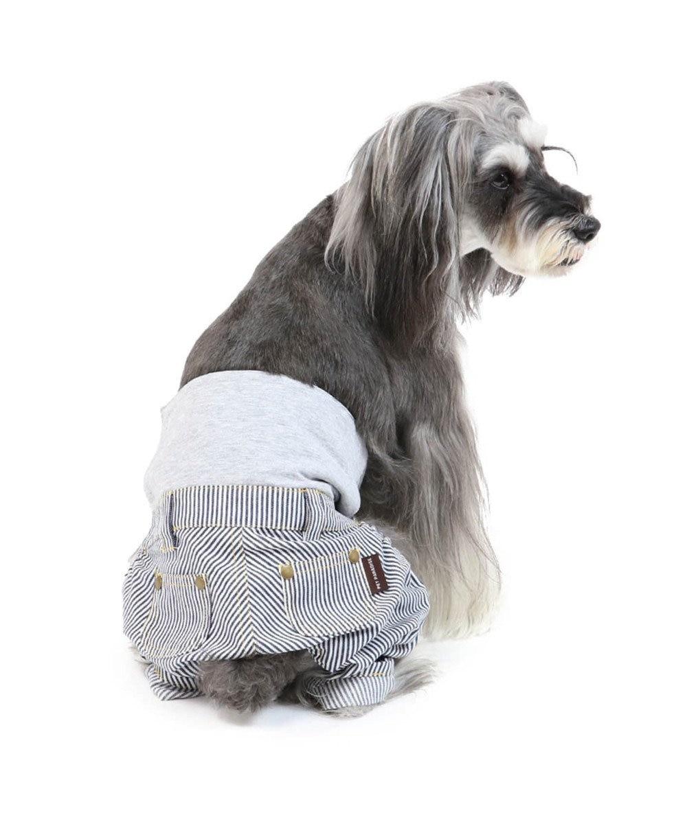 PET PARADISE ペットパラダイス ヒッコリー マナーパンツ  〔超小型・小型犬〕 紺(ネイビー・インディゴ)
