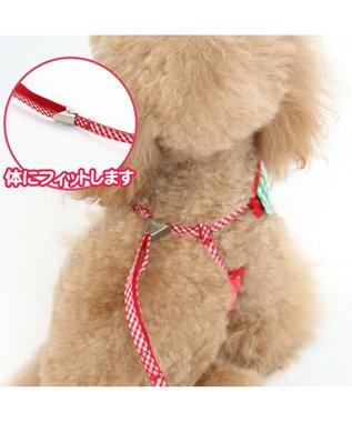 PET PARADISE ペットパラダイス 反射 苺柄ハーネスリード 3S〔超・小型犬〕 赤