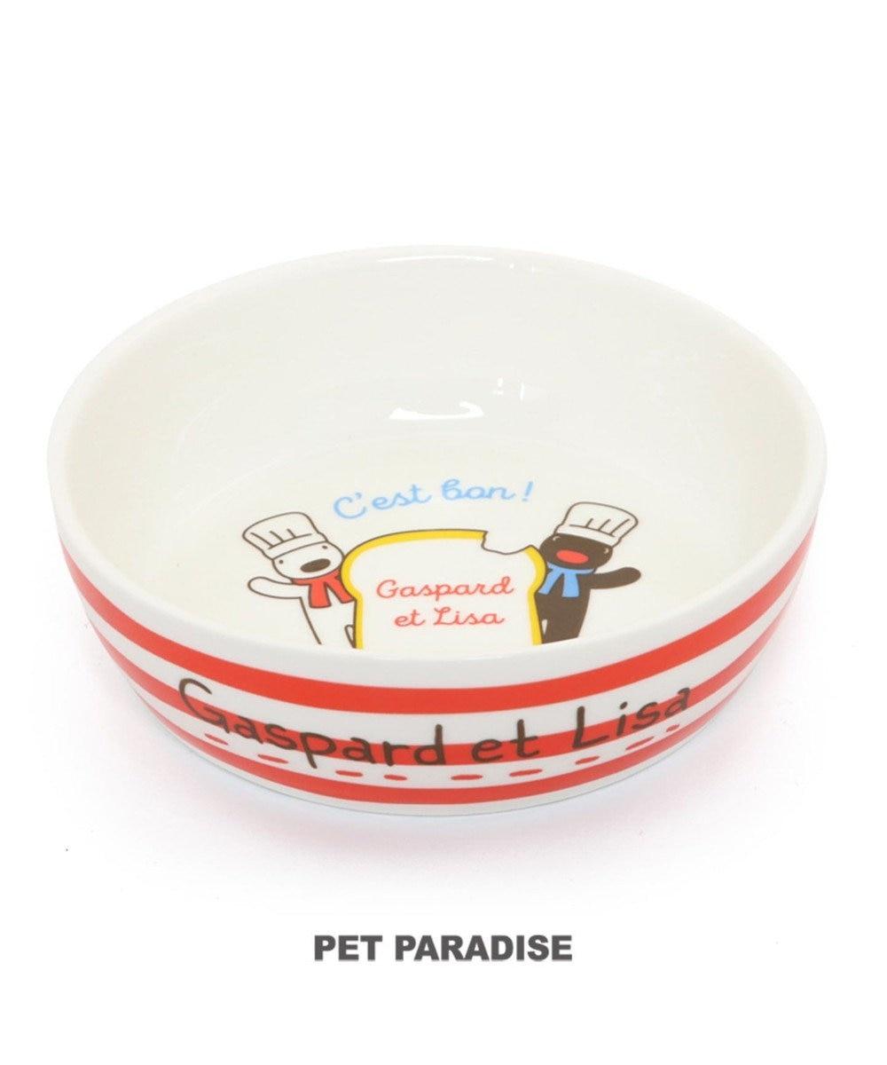 PET PARADISE リサとガスパール フードボウル 犬 フードスタンド 陶器 えさ皿 愛犬用食器 マルチカラー