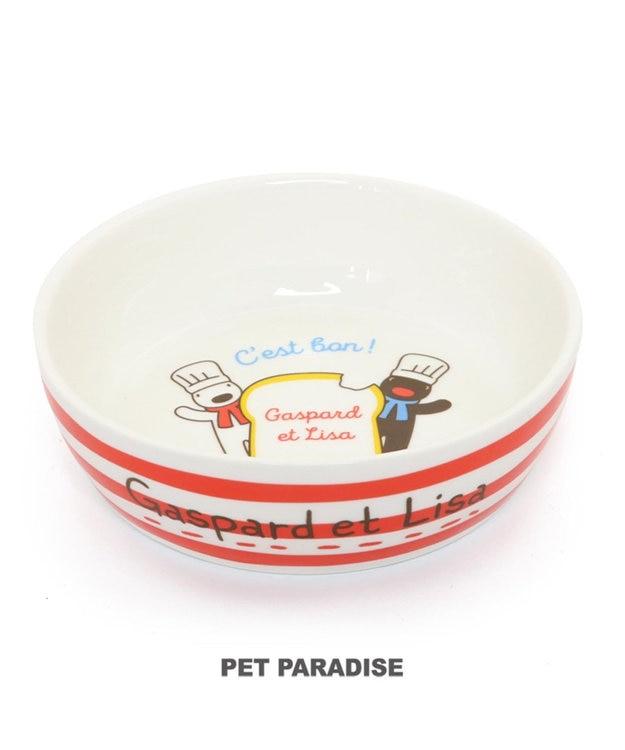 PET PARADISE リサとガスパール 陶器 えさ皿 愛犬用食器