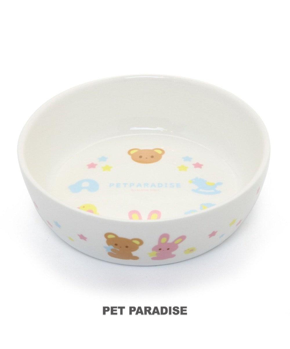 PET PARADISE ペットパラダイス 陶器 えさ皿 愛犬用食器 アニマル柄