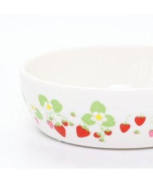 PET PARADISE ペットパラダイス 陶器 えさ皿 愛犬用食器 いちご柄