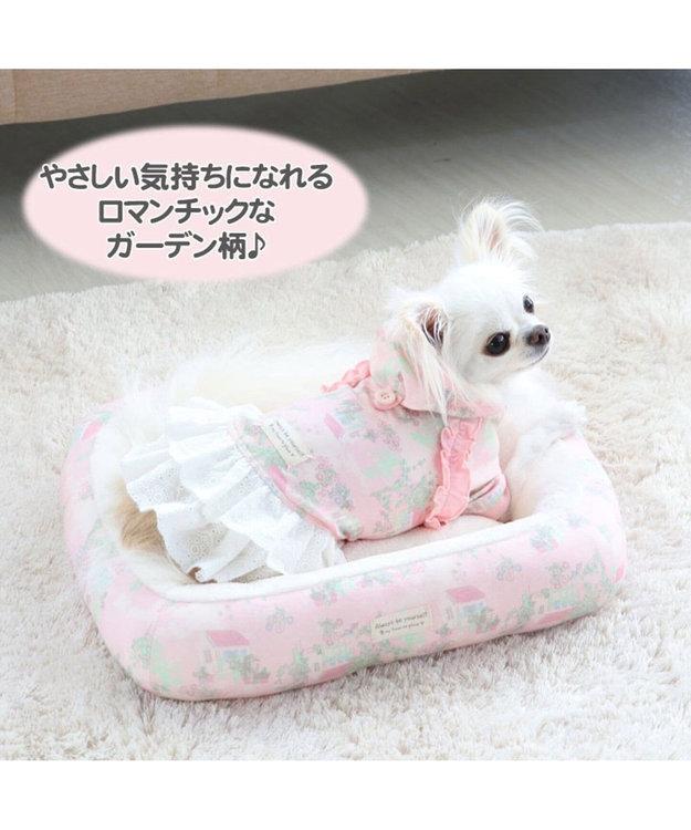 PET PARADISE ペットパラダイス ガーデン柄ベッド S  (約38cm×約32cm)