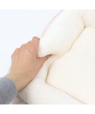 PET PARADISE ペットパラダイス ガーデン柄ベッド M (約57cm×約45cm) ピンク(淡)