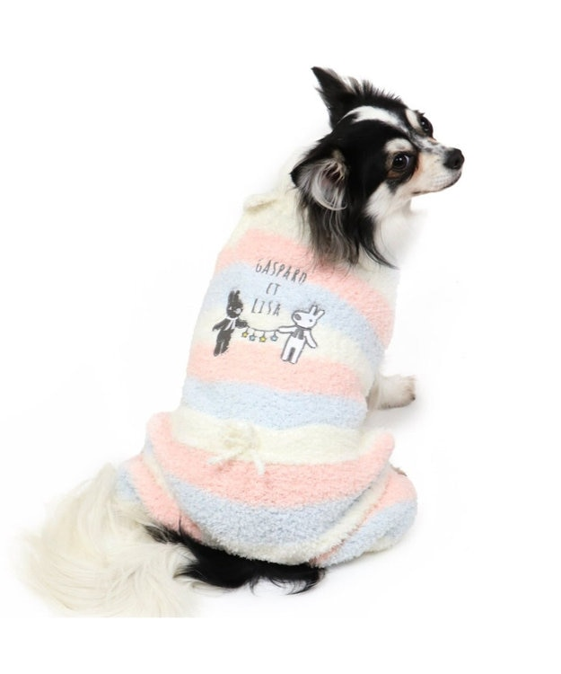 PET PARADISE リサとガスパール シェニール ロンパース〔超小型・小型犬〕 マルチカラー