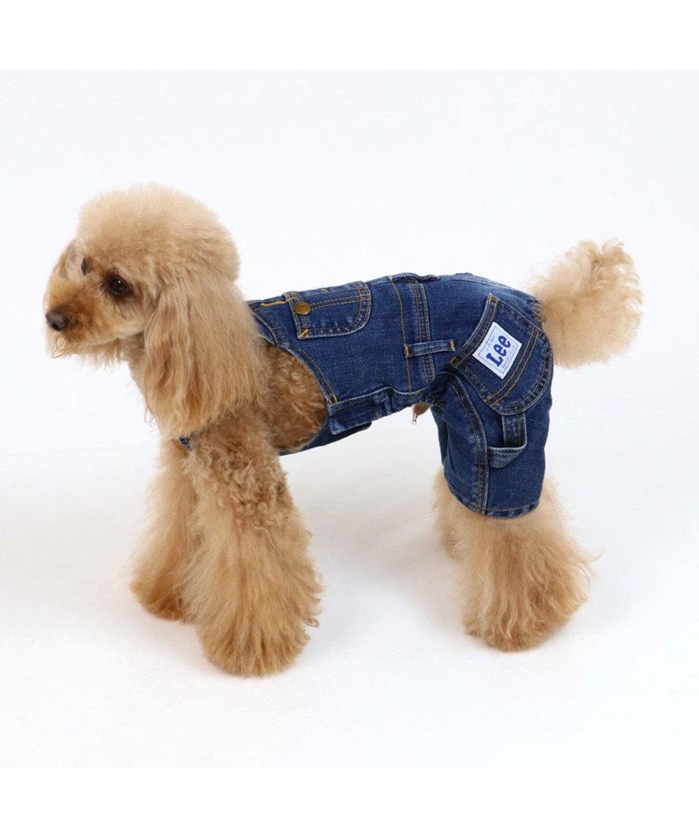 PET PARADISE Lee デニムオーバーオール サロペット 〔超小型・小型犬〕 紺(ネイビー・インディゴ)