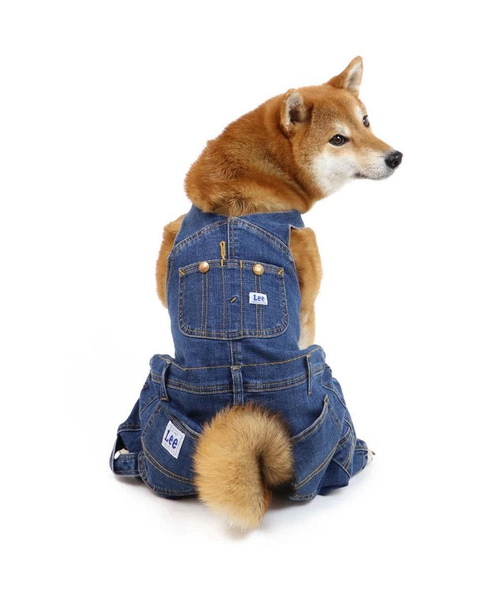 PET PARADISE Lee デニムオーバーオール サロペット 〔中型・大型犬〕 紺(ネイビー・インディゴ)