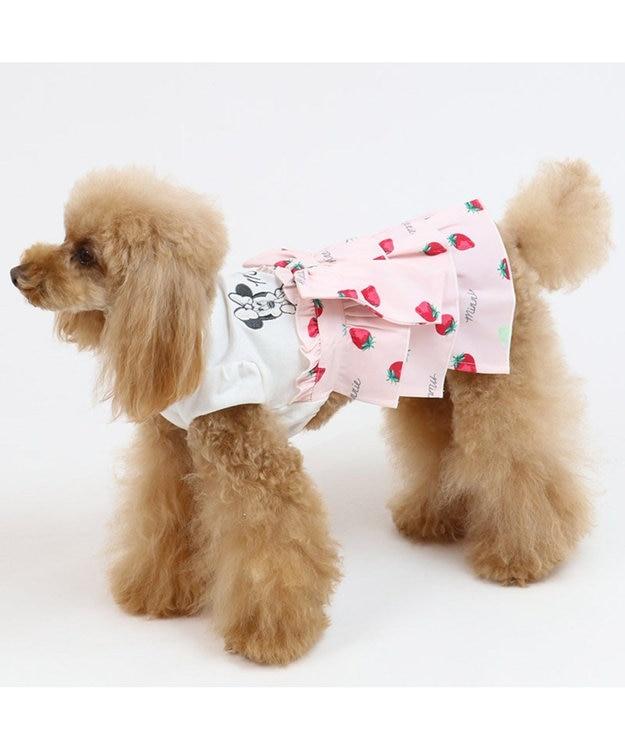 PET PARADISE ディズニー ミニーマウス 苺 総柄 ワンピース 〔超・小型犬〕