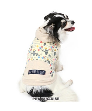 PET PARADISE リサとガスパール 風船柄 パーカー 〔超小型・小型犬〕 マルチカラー