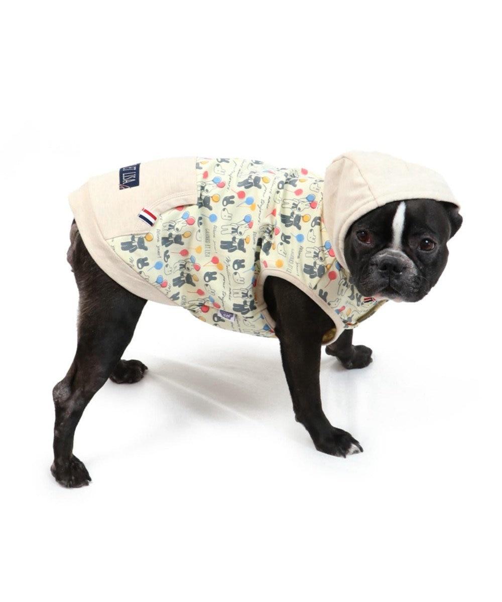 PET PARADISE リサとガスパール 風船柄 パーカー 〔中・大型犬〕 マルチカラー