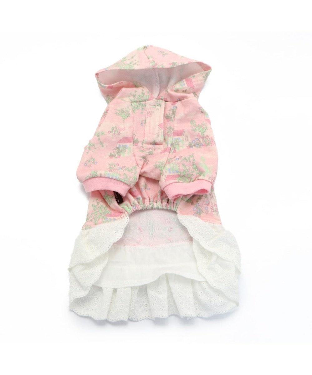 PET PARADISE ペットパラダイス ガーデン柄 ワンピース ピンク 〔超・小型犬〕 ピンク(淡)