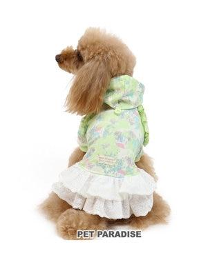 PET PARADISE ペットパラダイス ガーデン柄 ワンピース緑 〔超小型・小型犬〕 黄緑