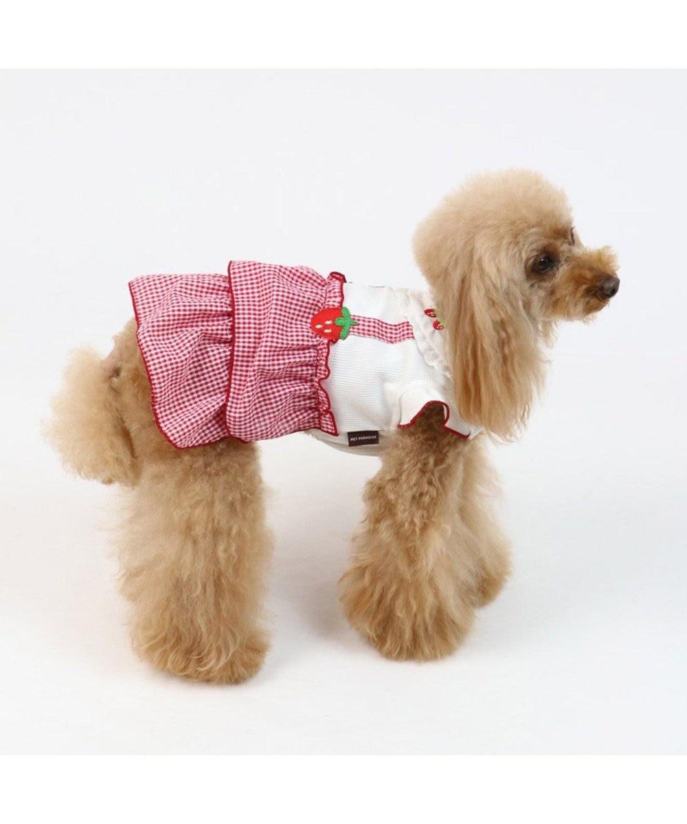 PET PARADISE ペットパラダイス 苺ギンガム ワンピース 〔超小型・小型犬〕 赤