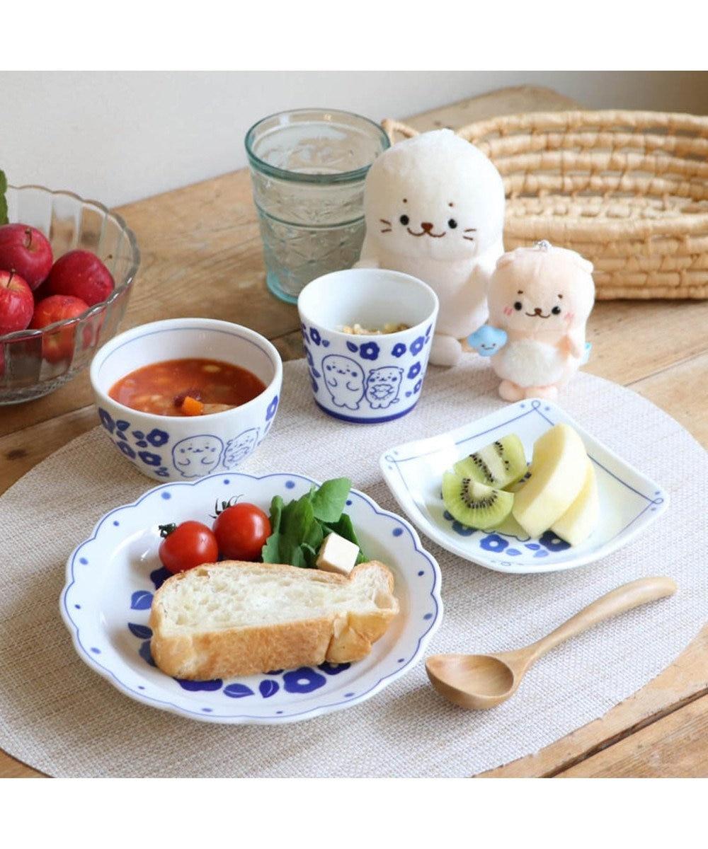 Mother garden しろたん 和食器 しろたん&らっこいぬ 椿柄 蕎麦猪口 日本製 0