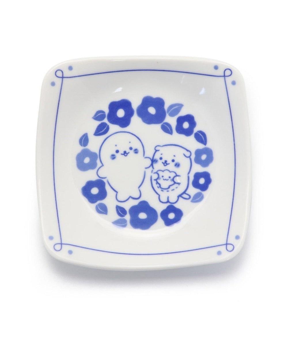 Mother garden しろたん 和食器 しろたん&らっこいぬ 椿柄 角皿 日本製 0