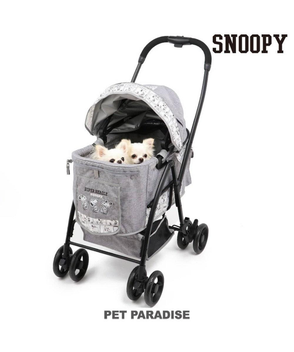 PET PARADISE 犬用品 ペットグッズ キャリーバッグ ペットパラダイス 犬 カート バギー おしゃれ スヌーピー ハッピーダンス柄 ハンドフルペットカート | 送料無料 1年保証 猫 ペットバギー 多頭用 介護 軽量 コンパクト収納 折り畳み 折りたたみ 1年保証 0