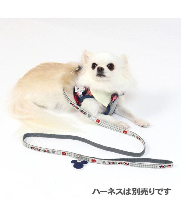 PET PARADISE ディズニー ミッキー アイコン柄 リード SS~S〔小型犬〕 グレー