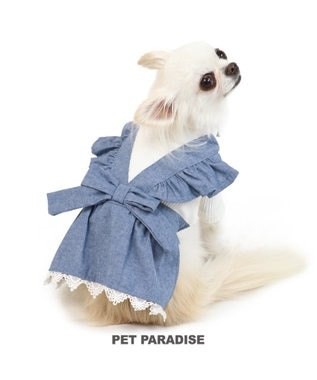 PET PARADISE ペットパラダイス エプロン ワンピース 青 〔超小型・小型犬〕 青