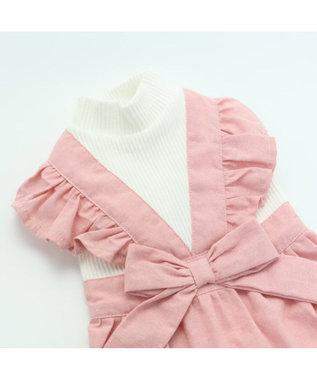 PET PARADISE ペットパラダイス エプロン ワンピース ピンク 〔超・小型犬〕 ピンク(淡)