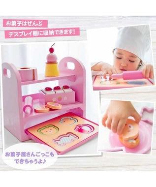 Mother garden マザーガーデン 木のおままごと  《いちごの焼き菓子セット》 ピンク(淡)