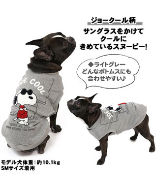 PET PARADISE スヌーピー ジョークール トレーナー ライトグレー 〔中・大型犬〕 グレー