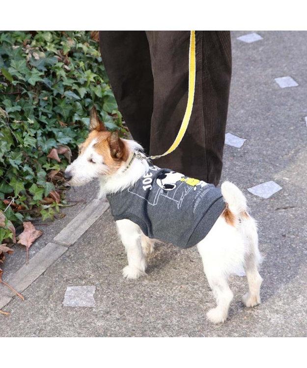 PET PARADISE スヌーピー ジョークール トレーナーダークグレー 〔中・大型犬〕 紺(ネイビー・インディゴ)