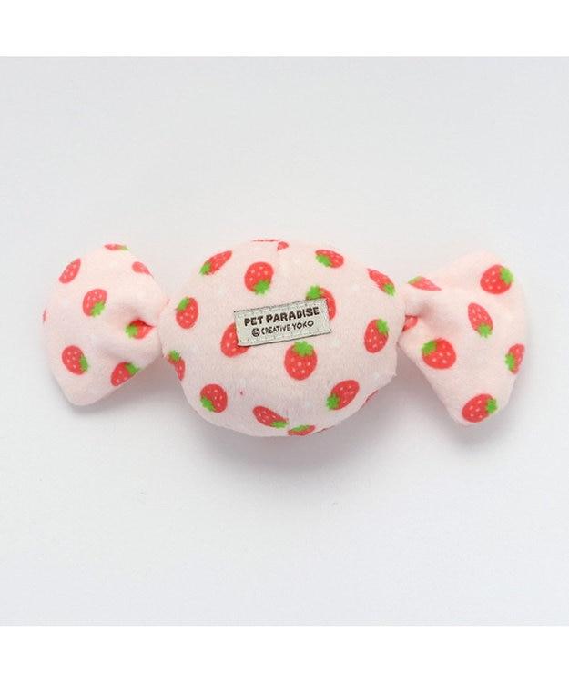 PET PARADISE ペットパラダイス キャンディ トイ 愛犬用 おもちゃ 苺柄