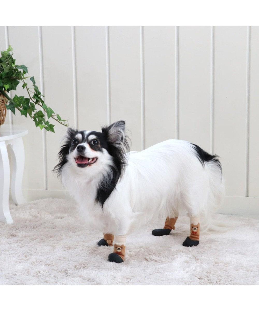 PET PARADISE ペットパラダイス くま フィットシューズ ペットSS〔小型犬〕 ベージュ