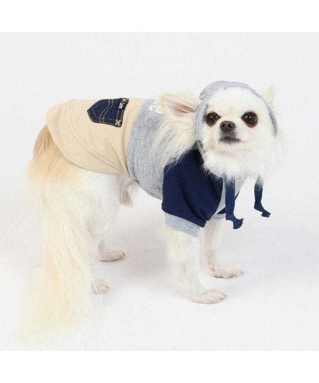 PET PARADISE Lee 春 パーカー グレー&ブラウン 〔超小型・小型犬〕 0