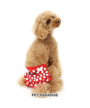 PET PARADISE ディズニー ミニーマウス サニタリーパンツ ドット柄 ペット4S 赤