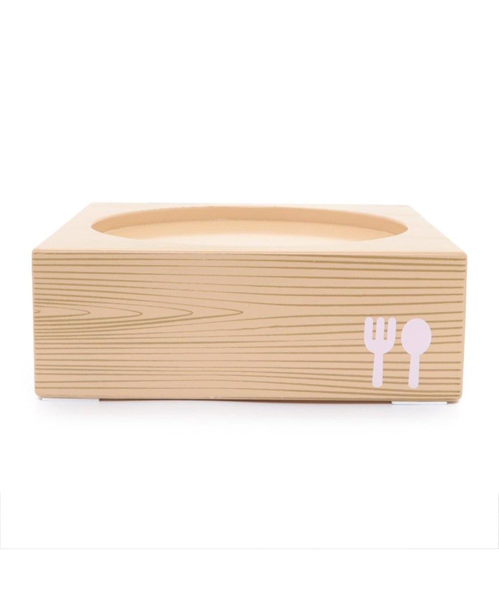 PET PARADISE 木製フードテーブル【小】(フードボウル別売り)S 茶系