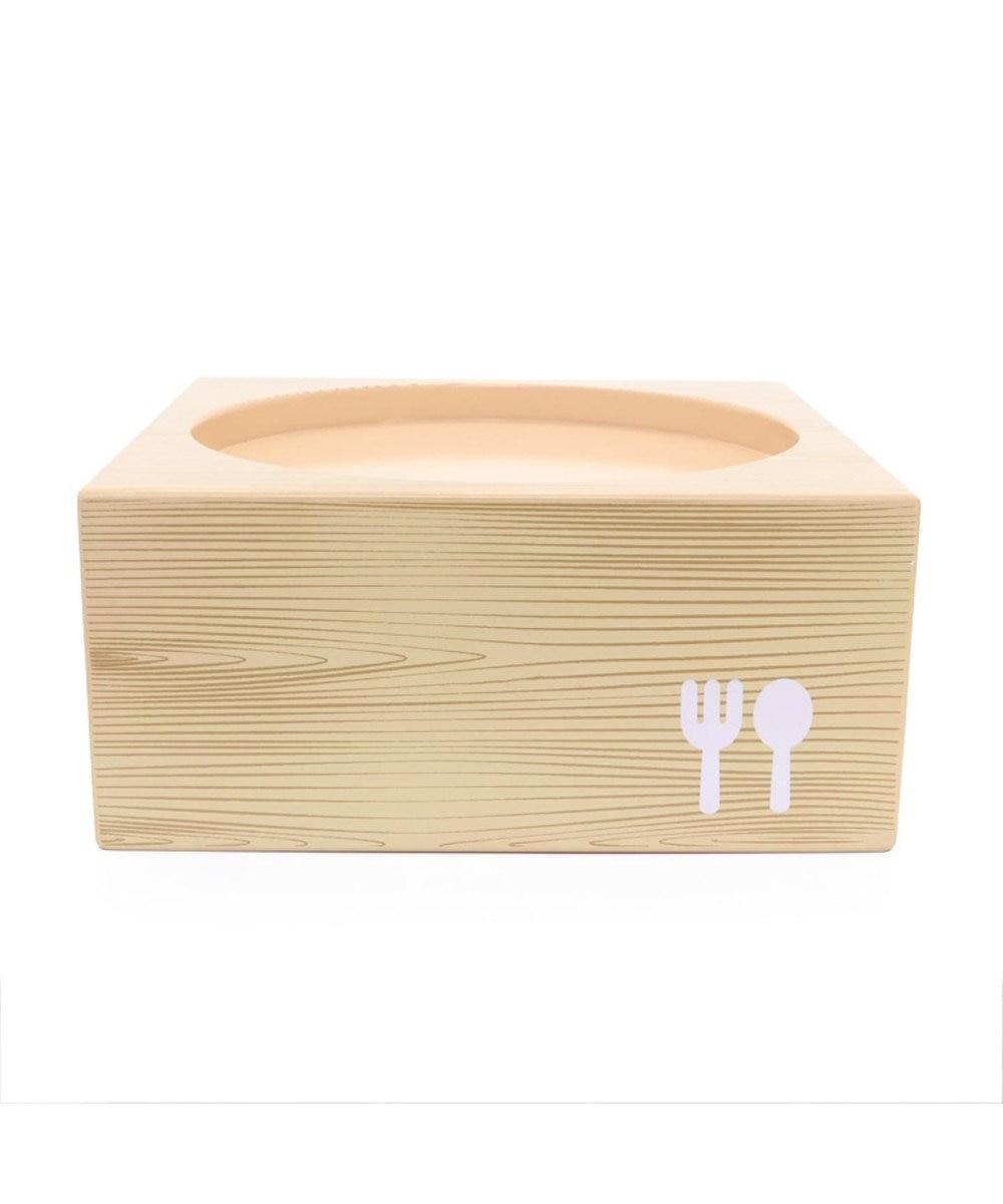 PET PARADISE 木製フードテーブル【大】(フードボウル別売り)M 茶系