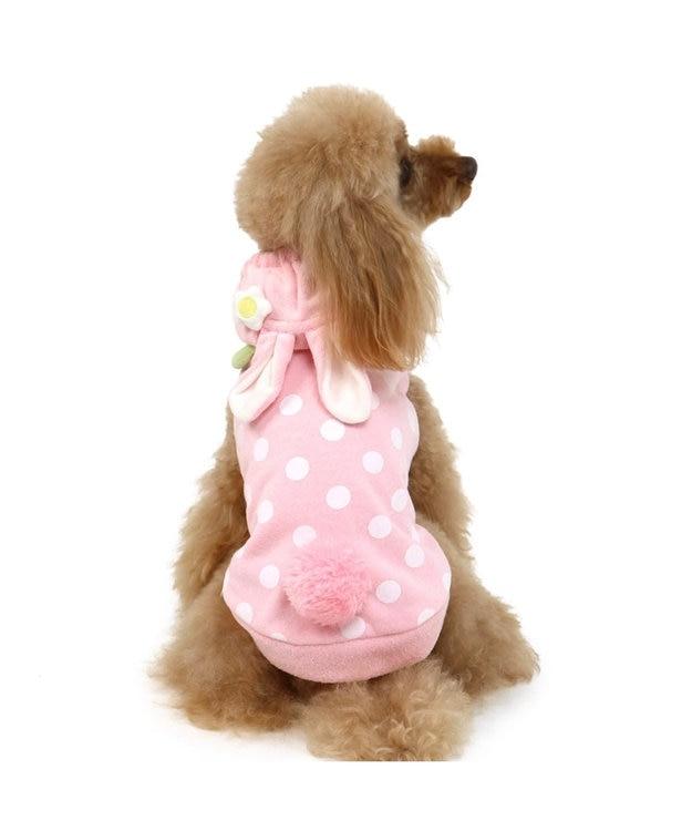 PET PARADISE ペットパラダイス 苺 うさぎ パーカー 〔超小型・小型犬〕 ピンク(淡)