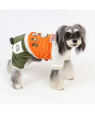 PET PARADISE スヌーピー ビーグルスカウト柄 サーモキープロンパース〔小型犬〕 オレンジ