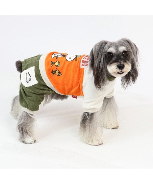 PET PARADISE スヌーピー ビーグルスカウト柄 サーモキープロンパース〔小型犬〕