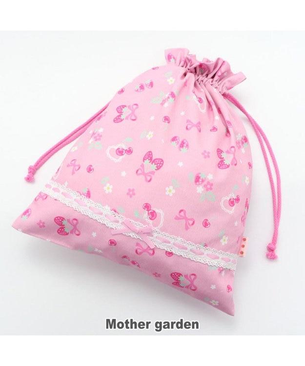 Mother garden マザーガーデン 野いちご 巾着 大  《ブーケ柄》 着替え袋