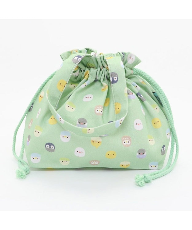 Mother garden マザーガーデン こぴよフレンズ ランチ巾着 お弁当巾着袋 黄緑